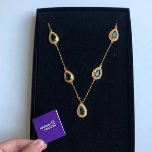 Rita Hayworth Emerald Color Station Necklace